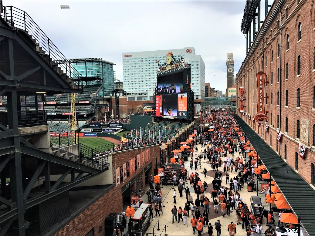 Eutaw Street and Warehouse at Camden Yards