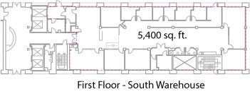 1st Floor South Warehouse Lease Space